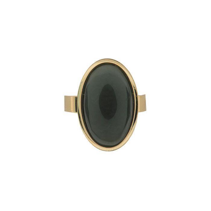 Ariki Gold Greenstone Ring -