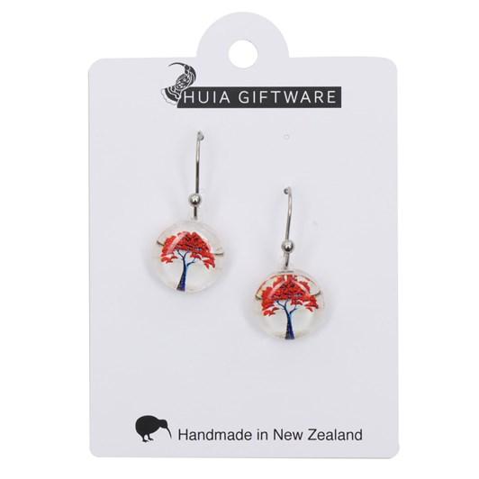 Round Pohutakawa Earrings