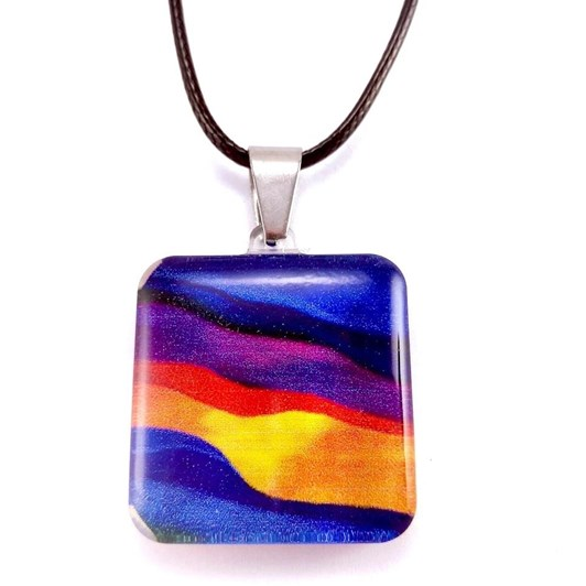 Square Candy Stripes Pendant