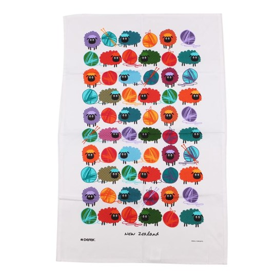 Woolly Brights Tea Towel