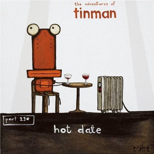 Tony Cribb Tin Man Hot Date Box Frame Black 30x30cm