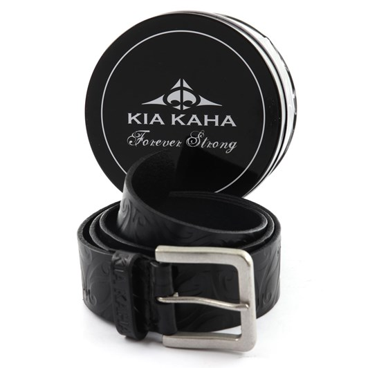 Kia Kaha Koru Leather Belt