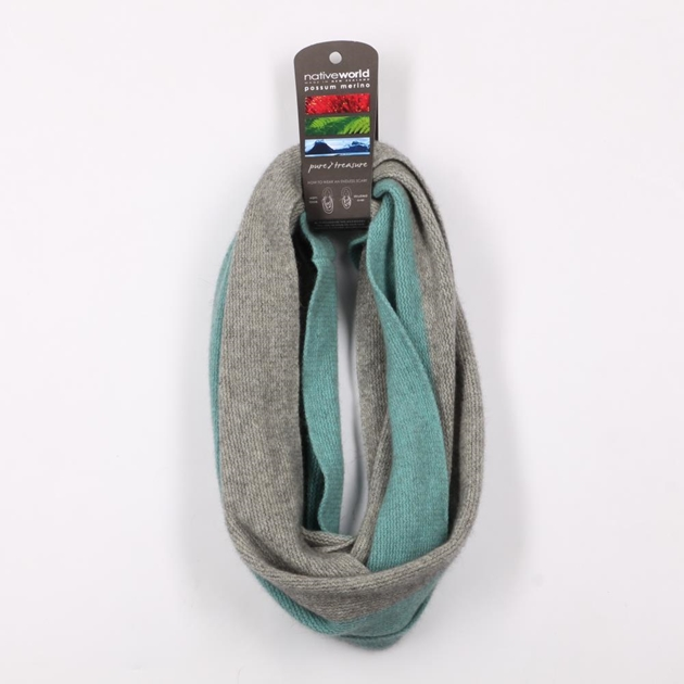 Native World Two Tone Endless Scarf - topaz