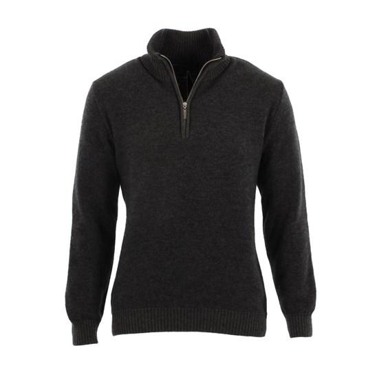 Native World Mens Textured Half Zip Sweater