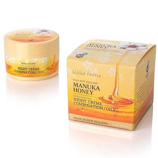 Wild Ferns Manuka Honey Rebalancing Night Crème Combin To Oily 100ml