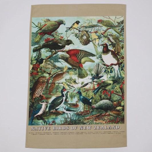 Native Birds of New Zealand Tea Towel