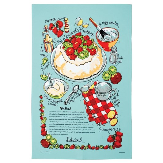 Kiwi Pavlova Tea Towel