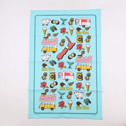 Kiwi Icons Tea Towel