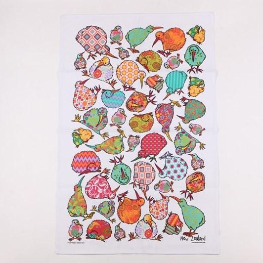 Kaleidoscope Kiwi Tea Towel