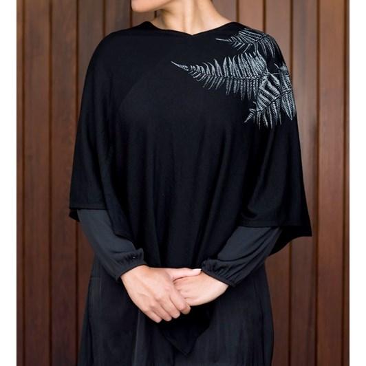 Jill Main Merino Ponga Poncho Large