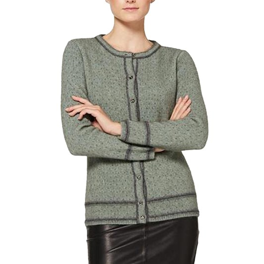 McDonald Two Tone Button Cardigan