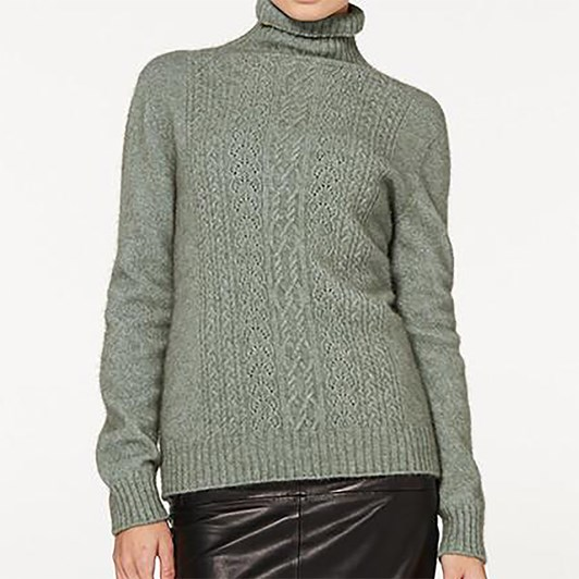 McDonald Polo Neck Jersey With Lace
