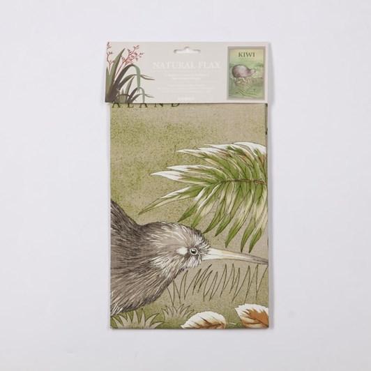Natural Flax Kiwi Tea Towel