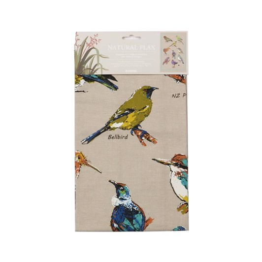 Natural Flax Birds On NZ Tea Towel