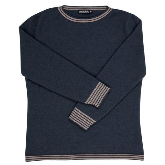 Native World Crew Neck Striped Sweater