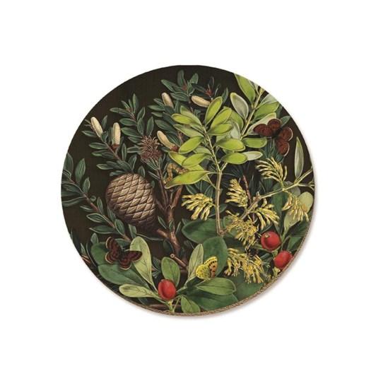 Tanya Wolfkamp Pine Cone & Berries Coaster