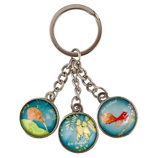 Nature's Gallery Glass Dangle Keyring