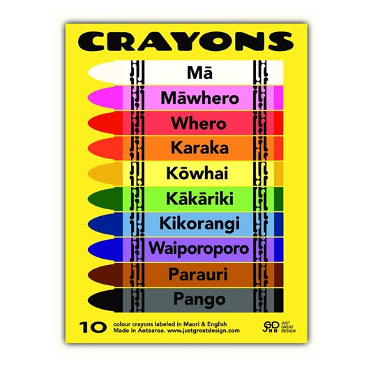 Just Great Design New Zealand Crayons Pack Of 10