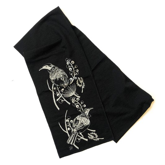 Jill Main Merino Scarf - Native Tui