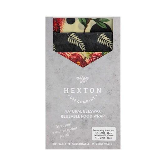 Hexton Bee Company Beeswax Wrap Starter Pack Kiwiana Fern