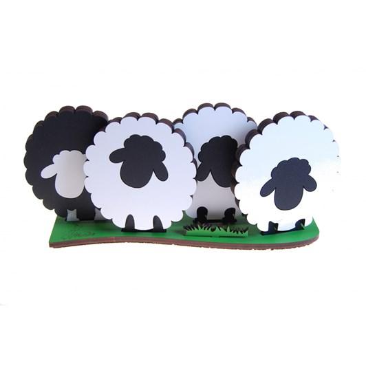 Ian Blackwell Coloured Coaster Sheep Set 4