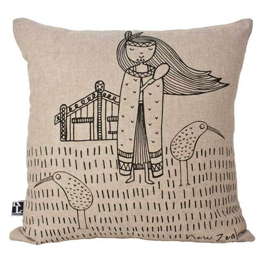 Karen Design NZ Kiwi Girl Cushion Cover
