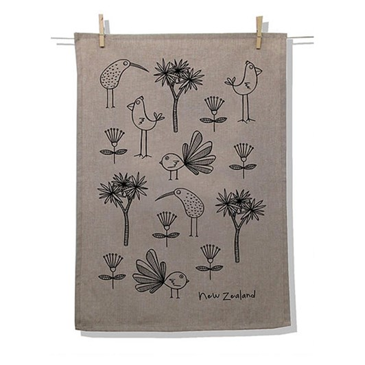 Karen Design NZ Birds Tea Towel