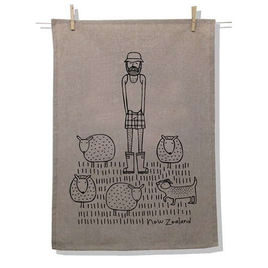 Karen Design NZ Farmer Tea Towel