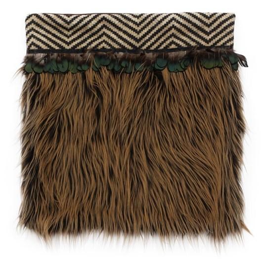 Rozcraft Roimata Brown Zigzag Cushion Cover Large
