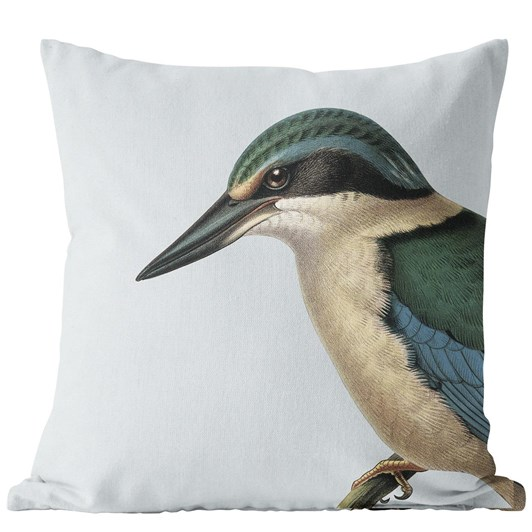 Hushed Kingfisher Blue Cushion