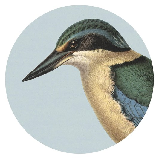 Hushed Kingfisher Blue Placemat