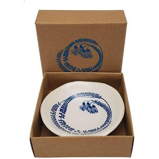 Jo Luping Blue Kowhai On White Bowl 7cm