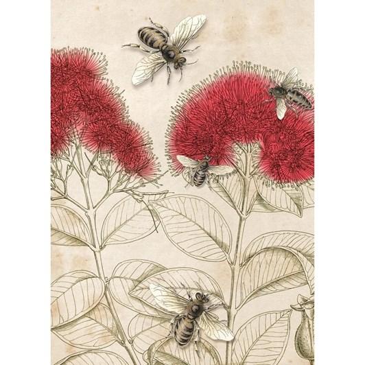 Tanya Wolfkamp Pohutukawa & Bees Lens Cloth