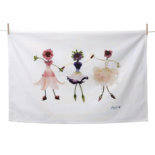 Golly Gosh Dancing Girls Tea Towel