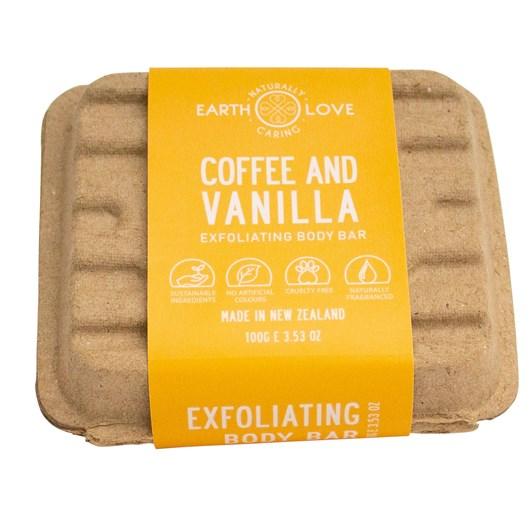 Earth Love Coffee & Vanilla Body Scrub Bar 100g