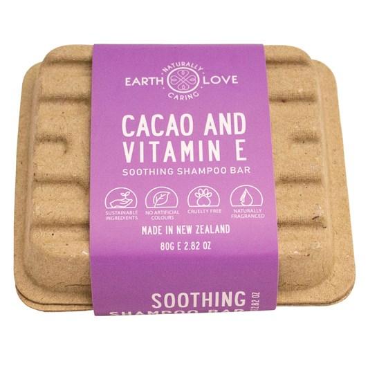 Earth Love Cacao & Vitamin E Soothing Shampoo Bar 80g