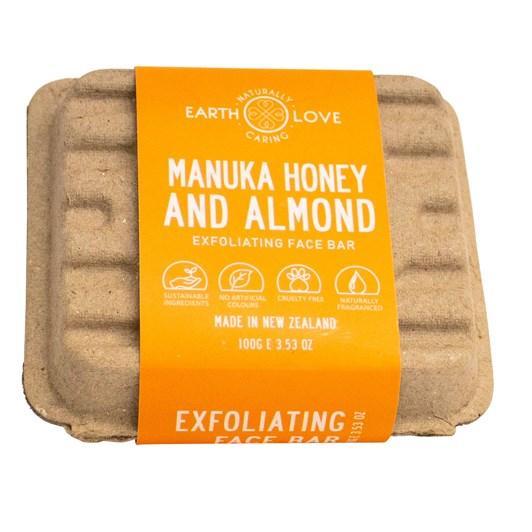 Earth Love Manuka Honey & Almond Facial Scrub Bar 100g