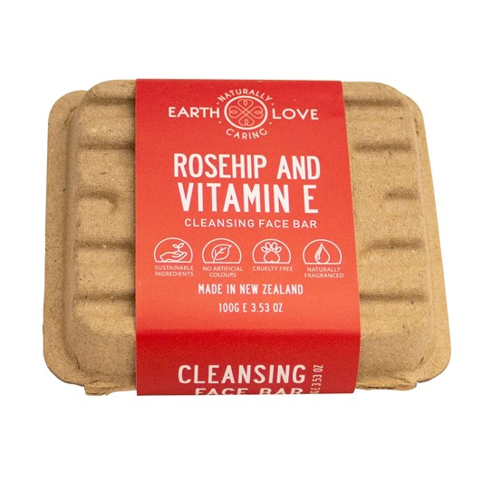 Earth Love Rosehip & Vitamin E Facial Wash Bar 100g