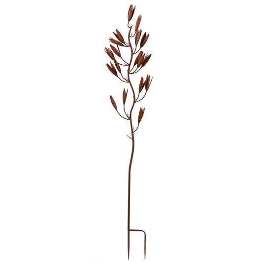 Flax Flower Metal Garden Art 1244x203x76mm