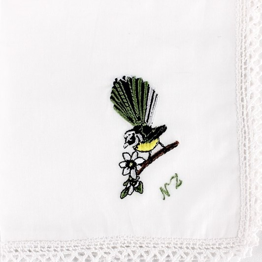 Fantail Embroidered Hankie
