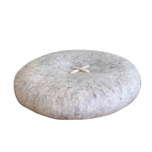 SHEEP-ish Design Button Felt Cushion 40cm