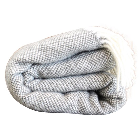 Mt Somers Station Basket Weave Lambs Wool Throw