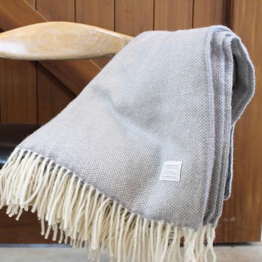 Mt Somers Station Basket Weave Lambs Wool Throw