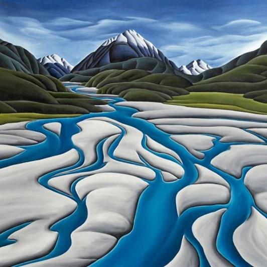 Diana Adams River's Reach Canvas 30x30cm