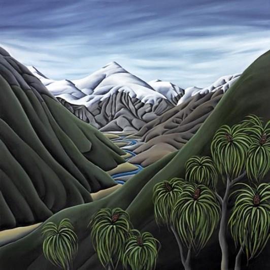 Diana Adams Beyond The Cascade Matt Mini White Contemporary Frame 35x27.5cm