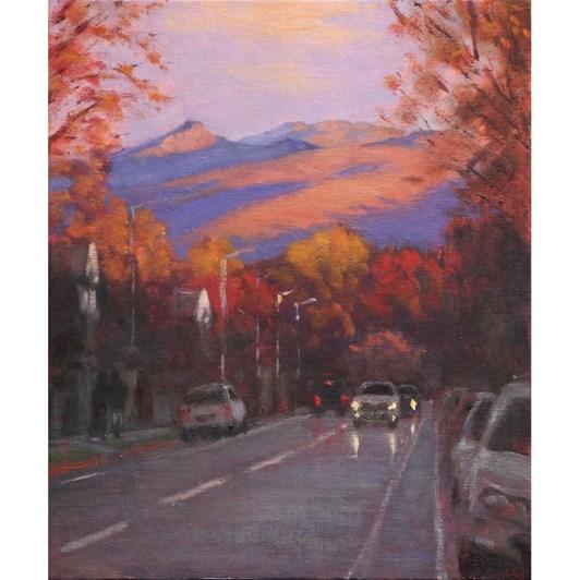 Philip Beadle Port Hills, Oil On Panel Framed 52x68cm