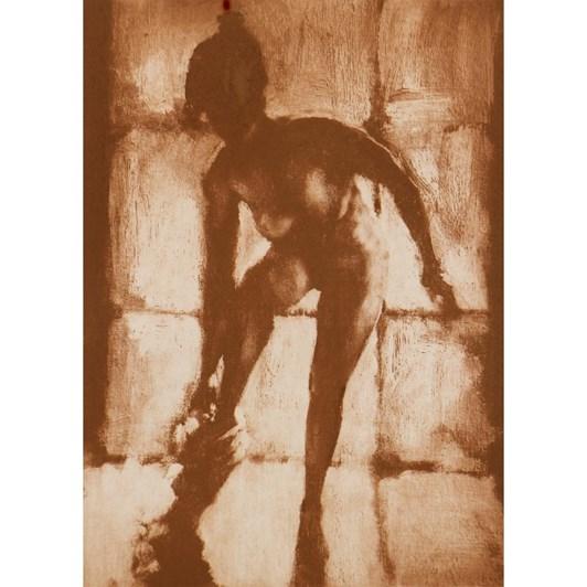 Philip Beadle Undressing, Etching Framed 44x52cm