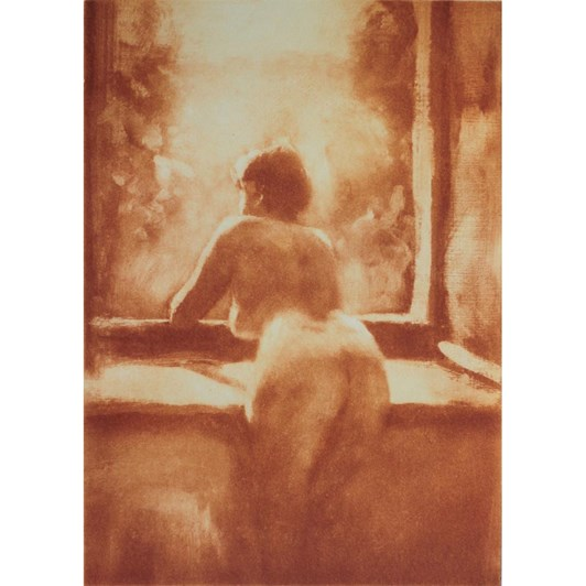 Philip Beadle Nude At The Window, Etching Framed 44x52cm