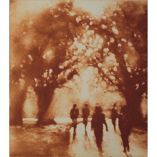 Philip Beadle Autumn, Hagley Park, Etching Framed 44x52cm