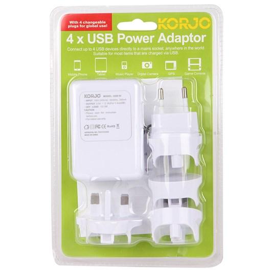 Korjo 4 x USB Power Adaptor